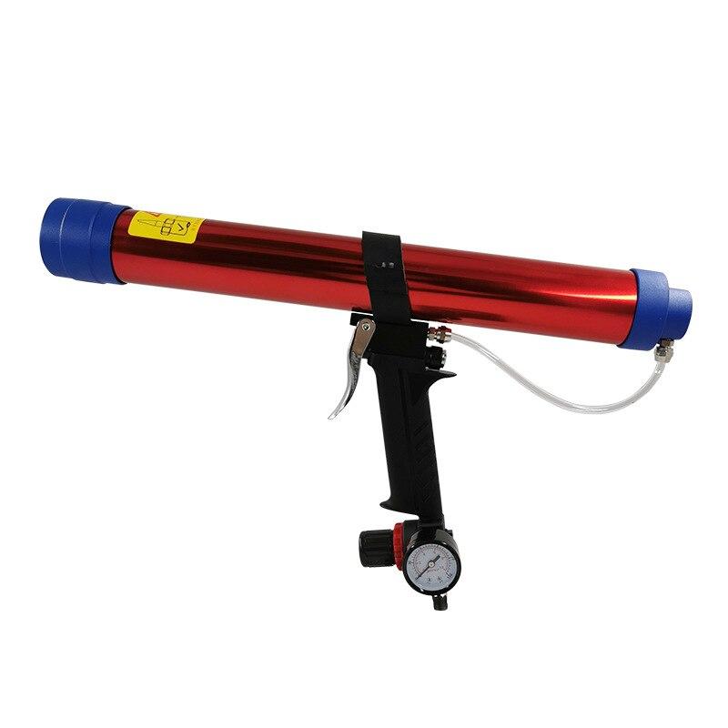 Adjustable Pneumatic Glass Glue Sealant Caulk Gun Cartridge Air Gun 700ml Hard Glue Sealant Applicator Caulking Gun Tools New
