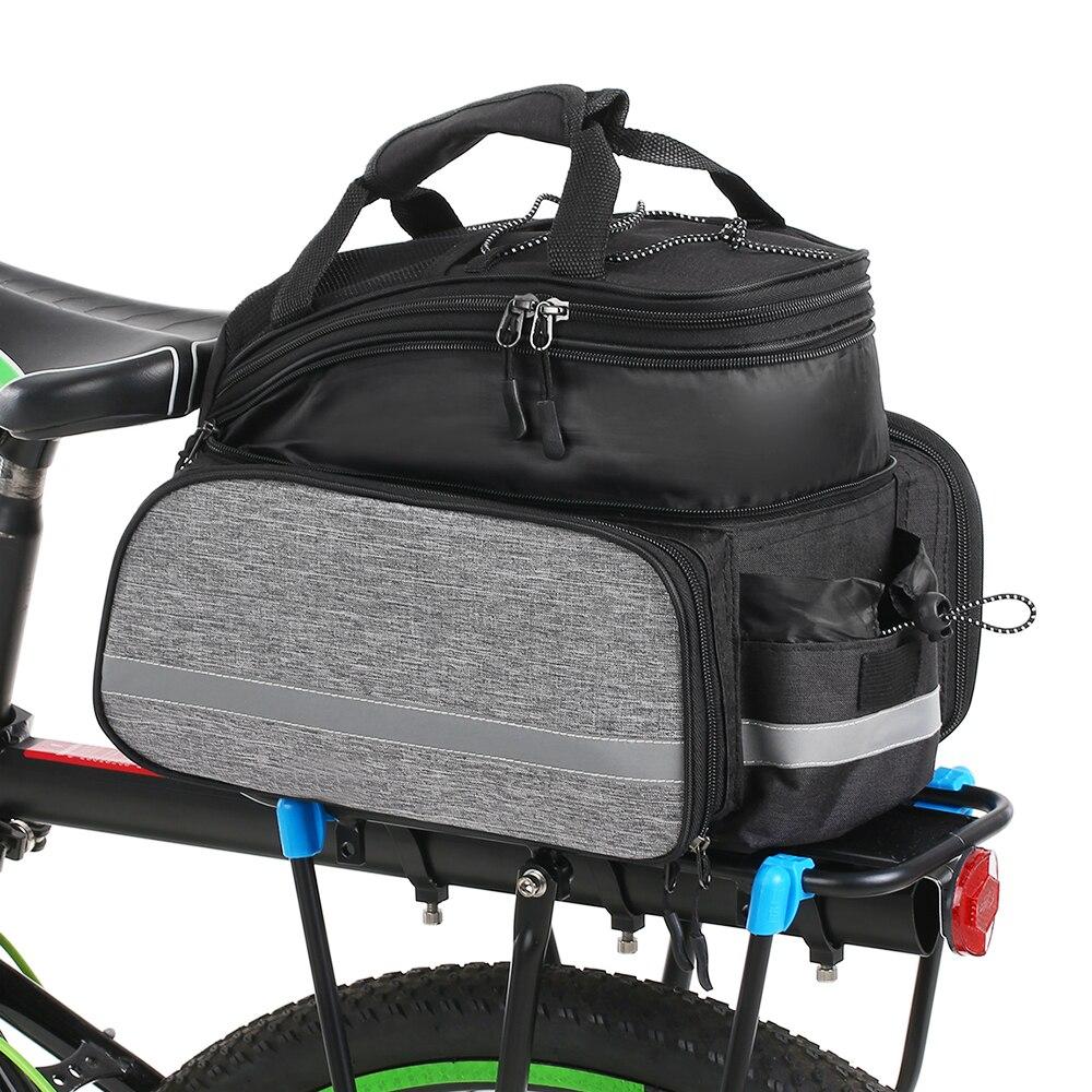 Lixada 25L Bike Rear Seat Bag Waterproof Bicycle Back Rack Storage Pouch Pannier