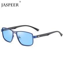 JASPEER Новые Металлические поляризованные солнцезащитные очки для мужчин и женщин Ретро Черные Квадратные Солнцезащитные очки фирменный дизайн солнцезащитные очки для мужчин UV400