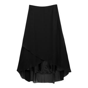 Image 4 - TiaoBug Elegant High Waist Tulip Hem Solid Color Ballroom Party Women Maxi Long Chiffon Skirt Contemporary Lyrical Dance Wear