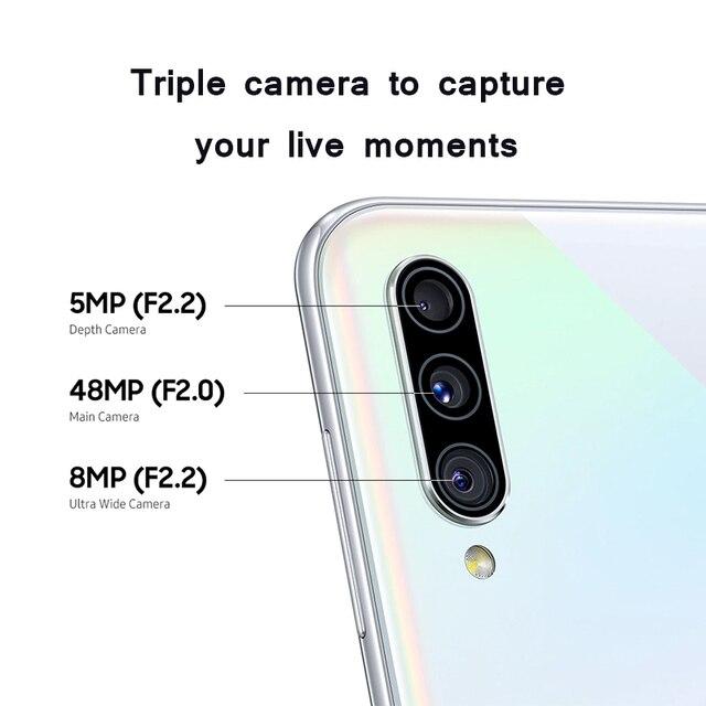 Samsung Galaxy A50s Mobile Phones NFC 6GB 128GB 6.4'' FHD+ Samsung Exynos Octa Core 48MP AI Triple Camera 4000mAh Cellphones 3