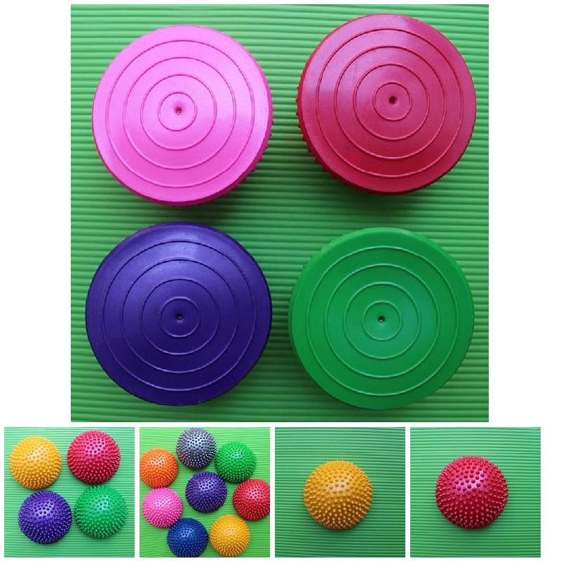 New Inflatable Half Sphere Yoga Balls PVC Massage Fitball Exercises Trainer Balancing Ball For Gym Pilates Sport Fitness BFE88