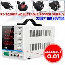 Alimentation PS-3010DF 110V/220V DC 30V 10a Variable de précision LED numérique réglable en laboratoire avec USB