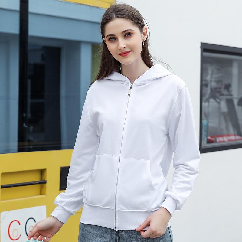 Winter Women Hooded Sweatshirts Long Sleeve Pocket Weatshirt Zipper Solid Color Warm Sweetshirt Hood Plus Size Hoodies Clothes