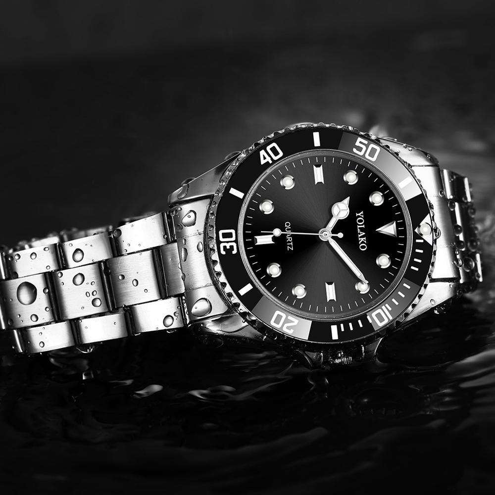 Relojes para Hombre reloj Rolexable para Hombre reloj de cuarzo deportivo de moda para Hombre Relojes de primera marca de lujo resistente al agua para negocios Relojes Relojes de Acero para hombre, reloj de cuarzo de lujo para hombre, reloj de pulsera de 50m para hombre, para deportes acuáticos, 2017, reloj masculino