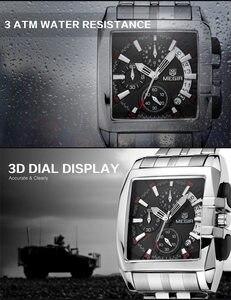 Image 4 - MEGIR Luxe Merk relogio masculino Volledig Stalen Chronograph Mens Quartz Horloge Bedrijf Horloge Mannen Horloges Militaire Klok Nieuwe 2018
