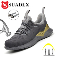 Boots Men Work-Shoes Construction-Safety SUADEX Steel Protective Anti-Smashing Toe-Cap