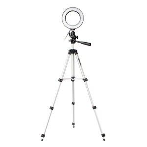 Image 3 - 16cm גובה מתכוונן צילום טלפון מחזיק Led חצובה Stand אנטי להחליק Selfie טבעת אור סט בהיר שידור חי איפור