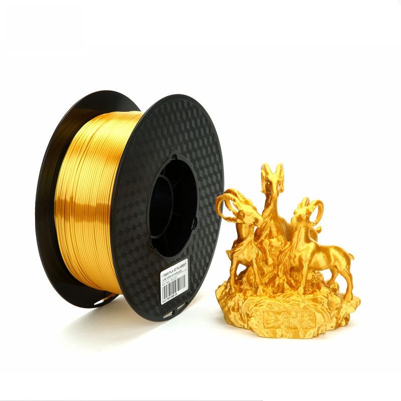 Silk PLA Gold 3d Printer Filament 1.75mm 2.85mm 1kg Silky Shine Golden 3d Pen Shiny Metal Metallic Printing Materials Rich Luste