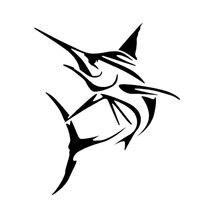 Marlin fish большой меч рыба автомобильный стикер с рыбалкой