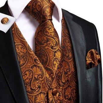 Mens Unique Design Silk-Waistcoats