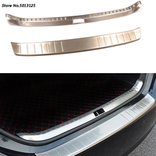 Stainless Steel Exterior Interior Rearguards Rear bumper Trunk Trim Bumper Pedal For Toyota Corolla 2017 2018 2019 Accessories недорого