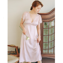 2020 verano ropa de dormir Vintage encaje púrpura camisón de talla grande para mujer ropa de noche para la boda ropa de dormir Lencería T698