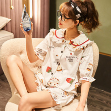 Summer Girl's Nightdress Cartoon 100% Cotton Nightgown Cute Print Sleepshirts Plus Size Nightgown Girls Nightdress fox print nightdress