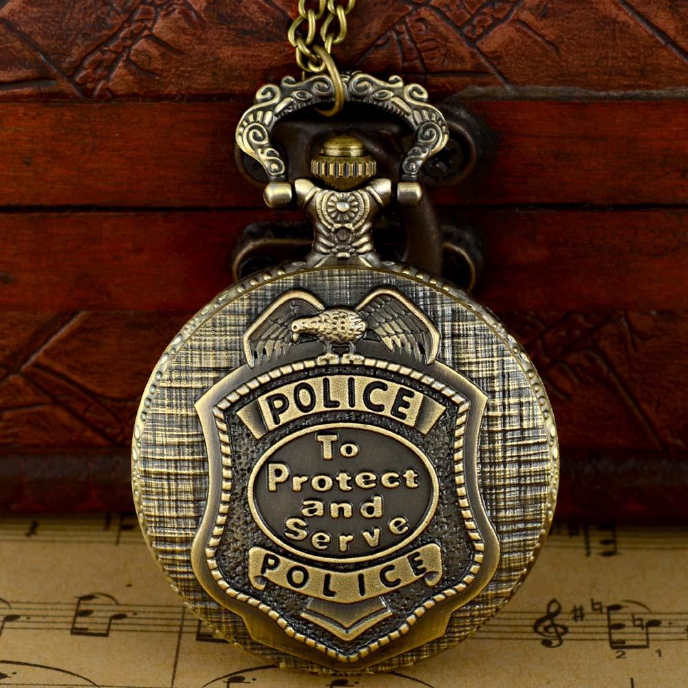 Classic Vintage United States Police Quartz Pocket Watch