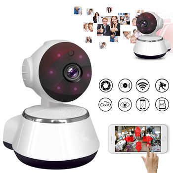 HD 720P MINI Home Security IP Camera Two Way Audio Wireless Mini Camera 1MP Night Vision CCTV WiFi Camera Baby Monitor image