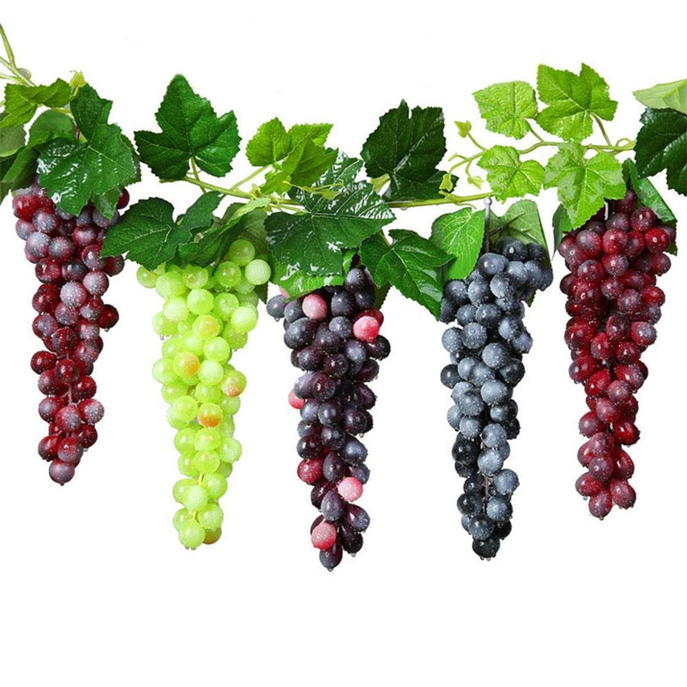 Искусственный фруктовый виноград, искусственные декоративные фрукты, реалистичные, для дома, свадьбы, вечеринки, украшения сада, аксессуар...