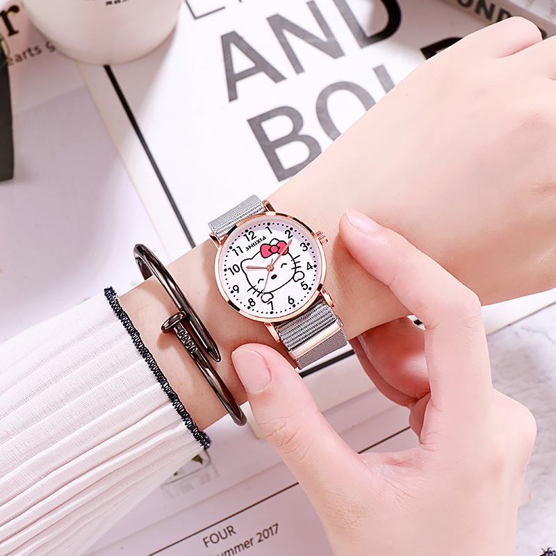 Female Bestie Sisters Lovers Trend Children Cartoon Hello Kitty Simple And Fresh Middle School Students Watch