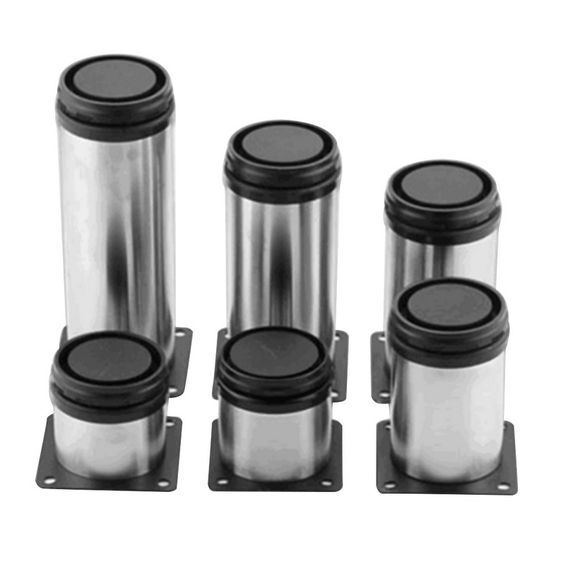 4Pcs/set Stainless Steel Adjustable Sofa Foot Cabinet Foot Bed Foot For Kitchen Home Furniture Legs Hardware For Home Decoration