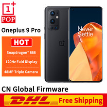 DHL ücretsiz küresel Firmware Oneplus 9 Pro 5G cep telefonu 6.7 inç 2K 120Hz LTPO AMOLED Snapdragon 888 Octa çekirdek 65W flaş şarj