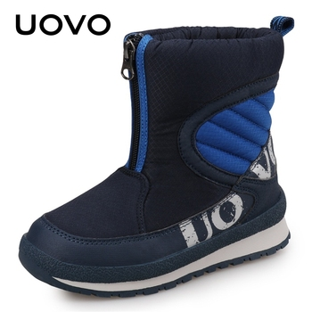 UOVO 2019 New Arrival Winter Shoes For Boys High Quality Fashion Warm Boots Kids Snow Boots Children Footwear #30-38