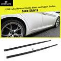 Боковые юбки из углеродного волокна для Alfa Romeo Giulia TI Base Sport Sedan 4 двери 2015-2017 боковые юбки-бампер