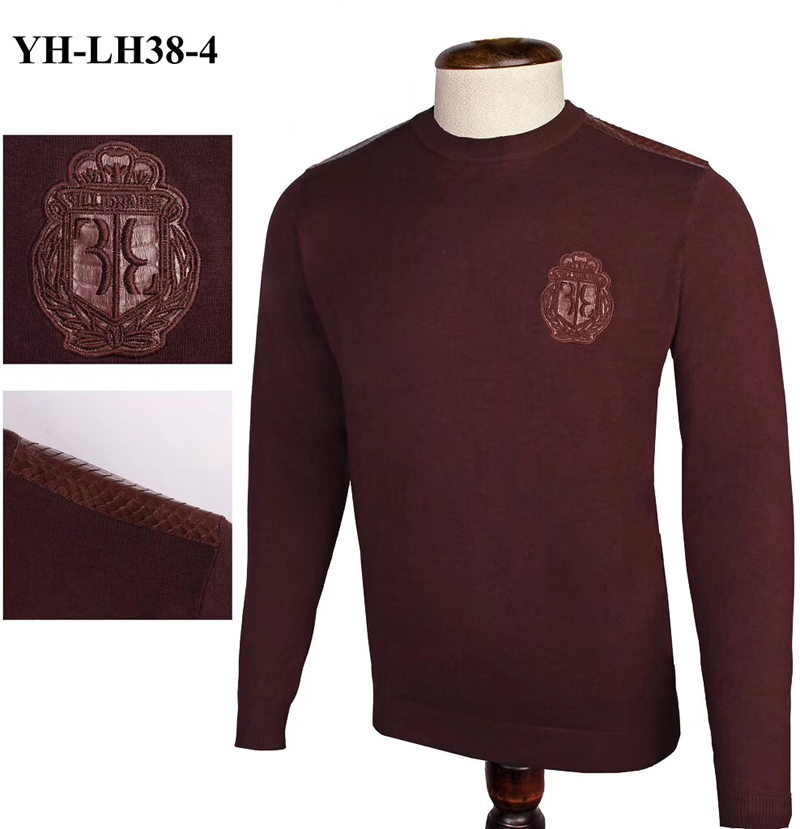 Billionaire Sweater Snake Skin Men's 2019 Winter New Fashion Casual Elasticity High Quality Embroidery M-4XL Free Shipping
