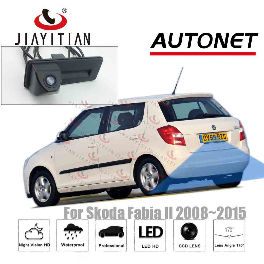 JIAYITIAN Trunk Handle Camera For SKODA FABIA FL MK2 5J 2008 2010 ~2015 Rear View Camera Reversing Parking Backup Camera CCD