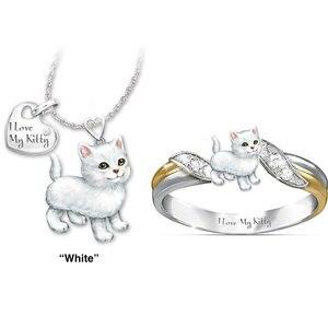 2pcs Cute Animal Cat Jewelry S