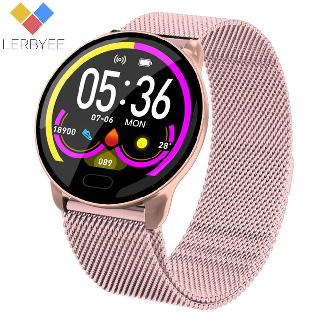 Lerbyee K9 Smart Bracelet Heart Rate Monitor Waterproof Fitness Tracker Color Screen Sport Activity Tracker for iPhone xiaomi