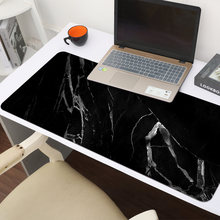 Большой игровой коврик для мыши с мраморным рисунком из натурального