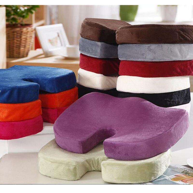 1PCS Car Seat Cushion Coccyx Orthopedic Memory Foam Seat Cushion For Chairs Back Lumbar Pain Relief Pad For Home Office Dropship