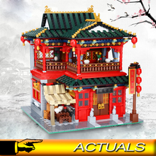 Compatible Xingbao 01002 3267pcs  Moc Creator Series The Beautiful Tavern Building Blocks Bricks Educational Toys Gifts цена