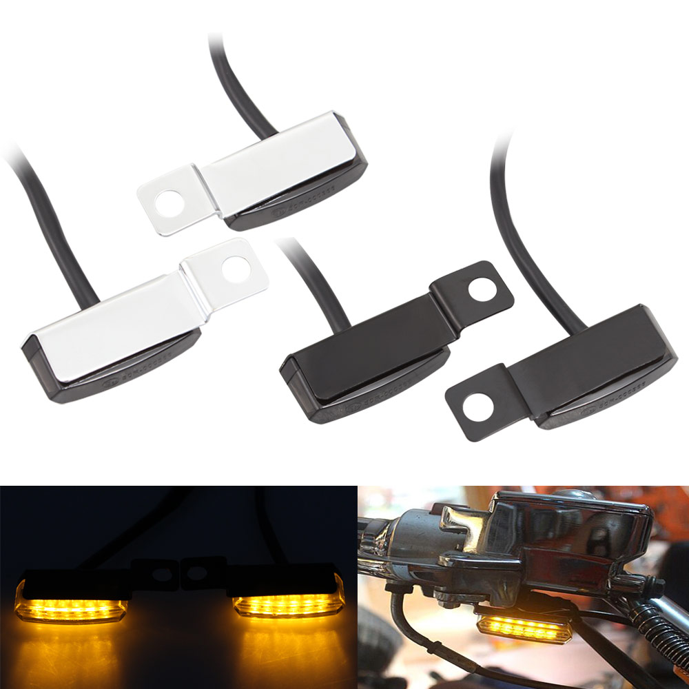 Motorbike Mini LED Turn Signal Light Flowing Water Blinker Flashing Indicator For Harley Sportster Vespa Royal Cafe Racer Ducati