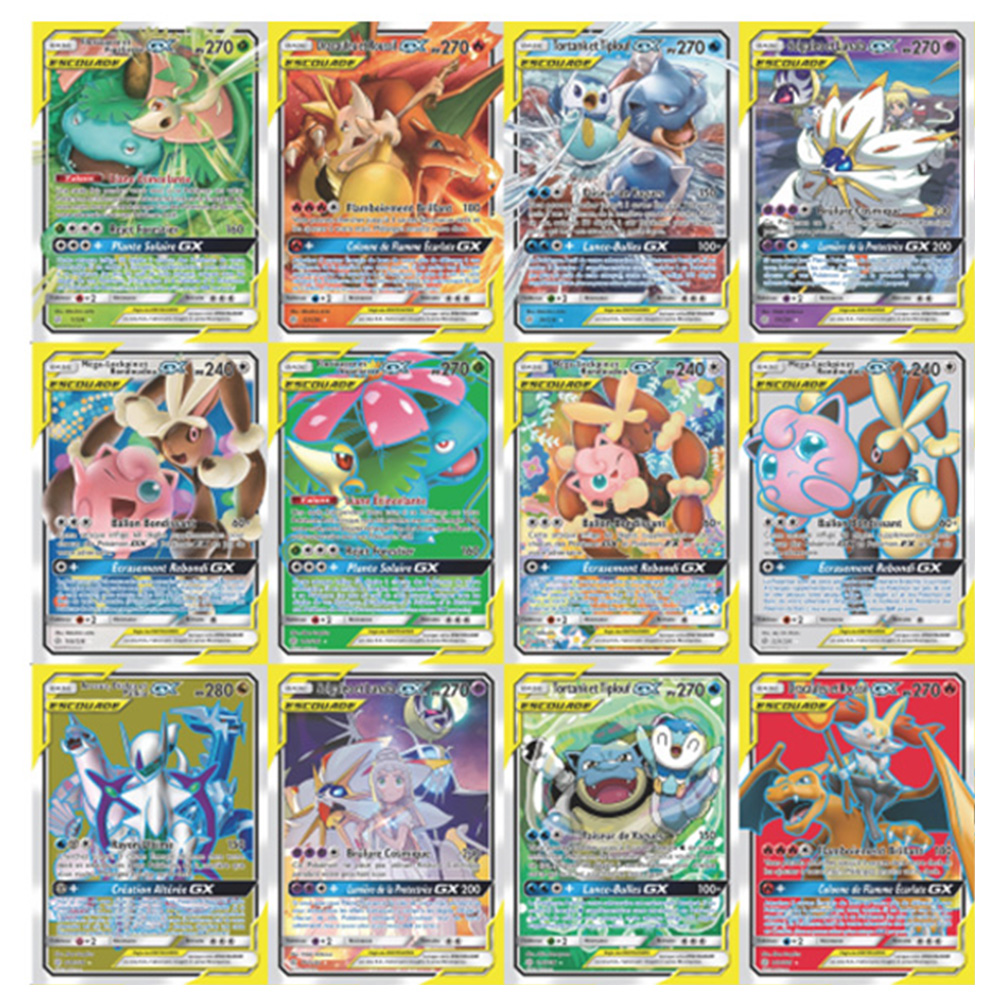 300Pcs English GX Tag Team Shining TAKARA TOMY Pokemon Cards English Game Battle Carte 200pcs Trading Cards Game Children Toy