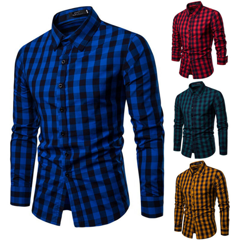 Men's Shirt European New Slim Men's Shirt Solid Color Long Sleeve British Style Cotton Men's Shirt