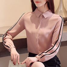 New Chiffon shirt Fall 2019 Autumn Woman Tops Long sleeve Blouses Shirt Office Fashion Turn-down Collar Women Blusa 933B
