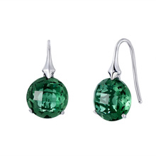 of European and American fashion geometric aspects of green crystal pendant female allergy free earrings wholesale
