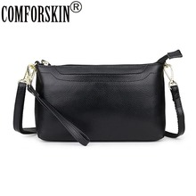 COMFORSKIN Luxurious Women Leather Messenger Bags Fashion Style Ladies Cross-body Bag New Arrivals Genuine Handbags