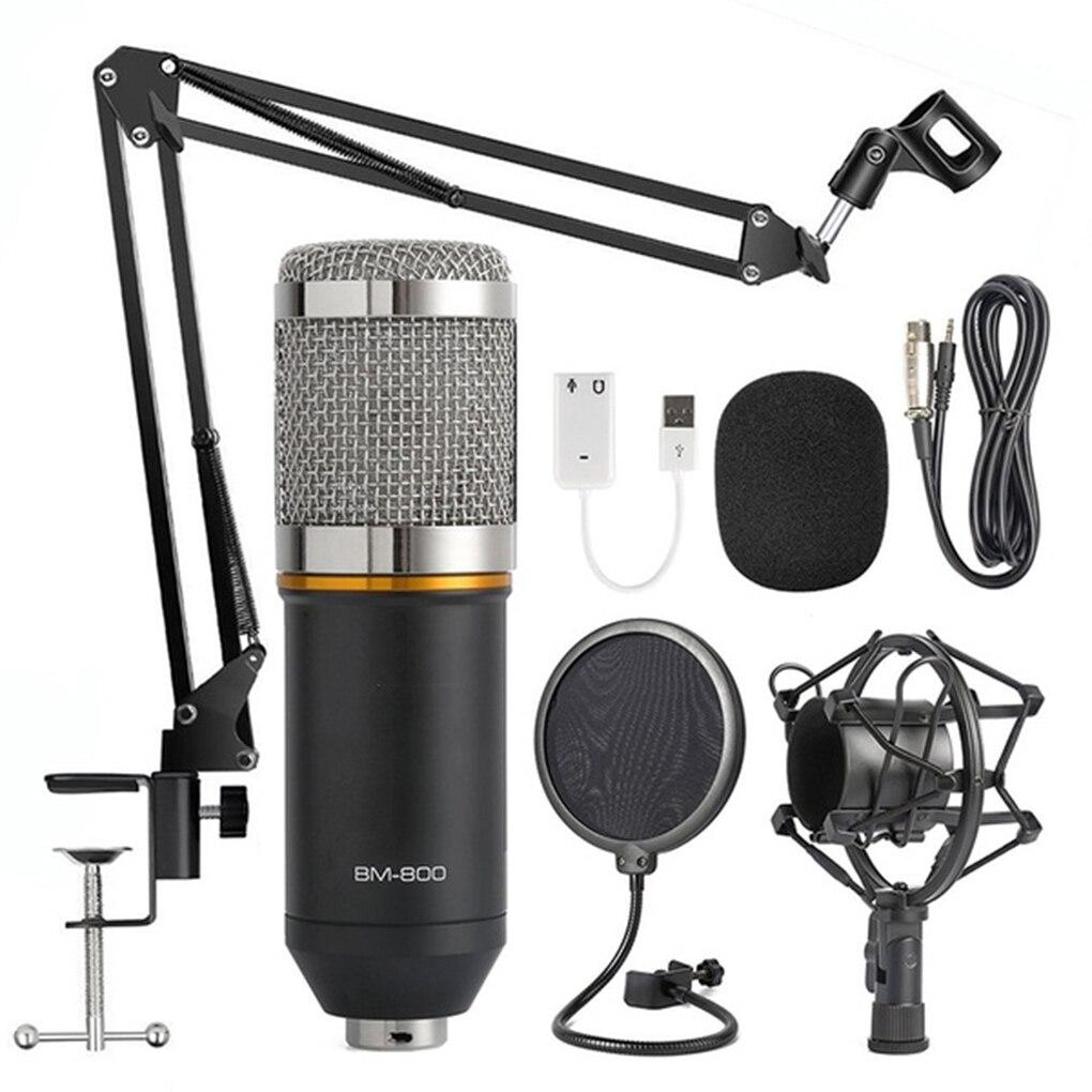 2019 nouveau Kit de Microphone à condensateur BM800 Suspension Studio bras à ciseaux enregistrement Studio Microphone de diffusion