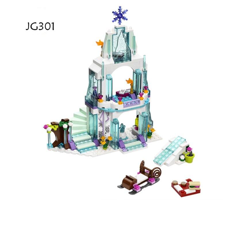 JG301 316pcs Princess Series Elsa Anna Ice Castle Building Block Bricks Educational Toys For Children Girls Friends Stacking Blocks    - AliExpress