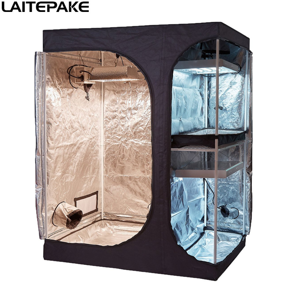 90x60x135cm Grow Tent Double Layer Two In One Grow Box For Led Grow Light Indoor Hydroponic Garden Plant Grow Seedling Result
