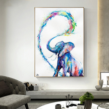 Abstract Animal Canvas Painting Water Spray Elephant Wall Posters Prints Wall Art Pictures for Living Room Home Cuadros Decor modern animal graffiti art elephant canvas painting wall art posters and prints for living room wall pictures decor home cuadros