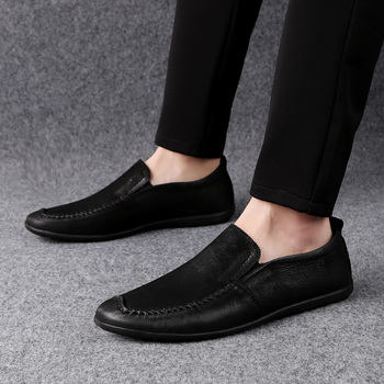 Autumn Soft Men Casual Shoes High Quality Flats Loafers Male Moccasins Driving Shoes Male Vintage Italian Men Shoes HC-662