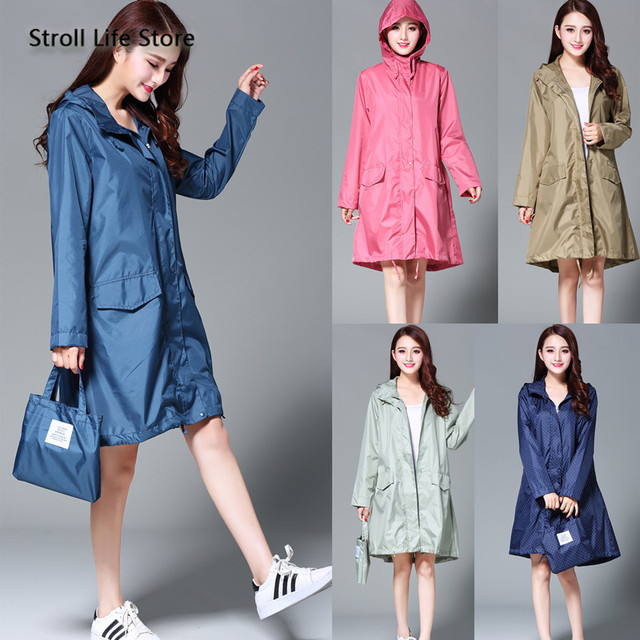 Japan Raincoat Adult Rain Poncho Korea Girls Long Rain Coat Ladies Waterproof Suit Windbreaker Women Gabardina Mujer Gift Ideas