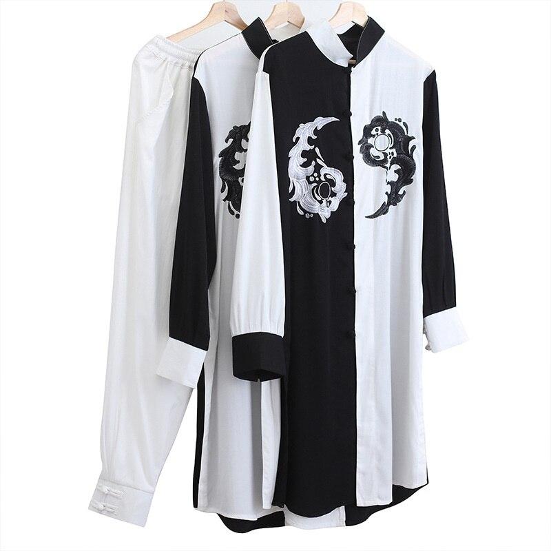 Linen Shirts Men Tracksuit Pants Sets Two Piece Kong Fu Suit Mens Streetwear Fashion Sweat Pant 2019 Men'S Sets KK3174 - 6