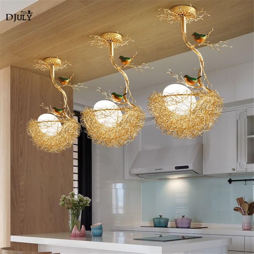 plafonnier suspendu au design nordique moderne nid d oiseau en verre luminaire d interieur ideal pour une salle a manger une chambre d enfant