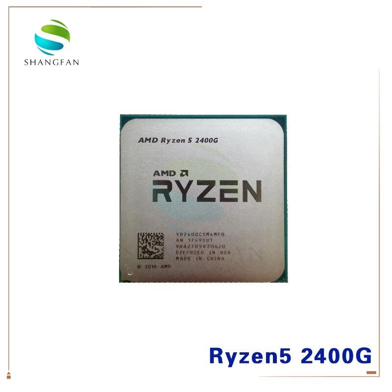 AMD Ryzen 5 2400G R5 2400G 3,6 ГГц четырехъядерный четырехпоточный процессор 65 Вт YD2400C5M4MFB разъем AM4