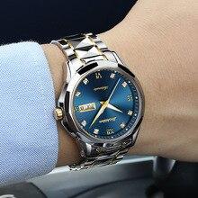 JSDUN Men Automatic Mechanical Watch with Tungsten steel Waterproof Luminous Jap