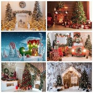 Christmas Backdrop Fireplace Winter Snow Window Newborn Baby Photography Background For Photo Studio Vinyl Photophone Photocall